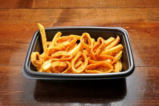 seafood delicacy known as fried calamari rings