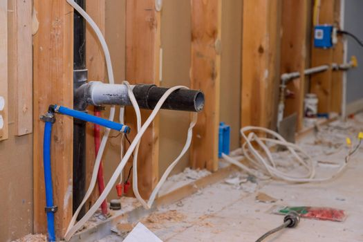 Repairs for remodeling in the kitchen that is under renovation, reconstruction with progress repairing works