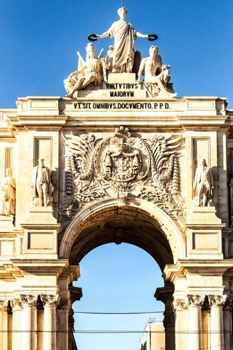 Beautiful Arco da Rua Augusta monument in Lisbon
