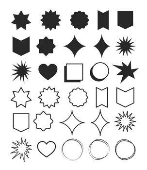 Geometric shapes element design set. Symbol with shape and line geometric design.