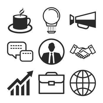 Business icons flat design with elements for website, infographic and all business design.