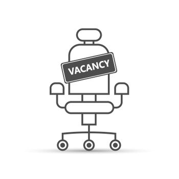 vacancy sign on an empty seat. Hiring an employee, a business vacancy