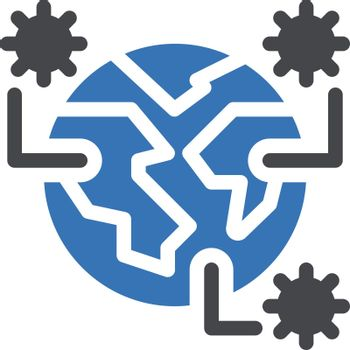 covid vector glyph color icon