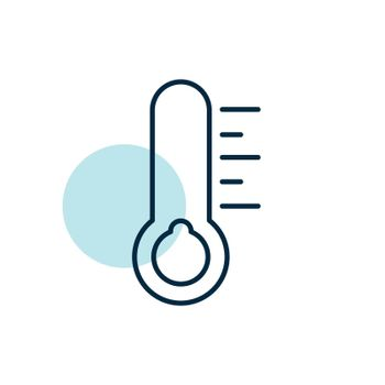 Thermometer cold vector icon. Meteorology sign. Graph symbol for travel, tourism and weather web site and apps design, logo, app, UI