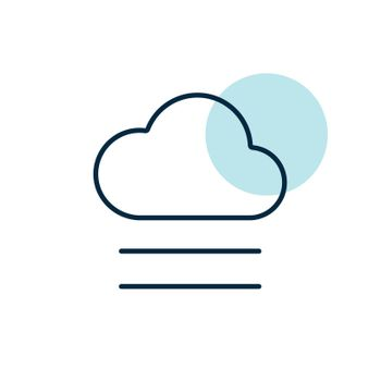 Fog and cloud vector icon. Meteorology sign. Graph symbol for travel, tourism and weather web site and apps design, logo, app, UI