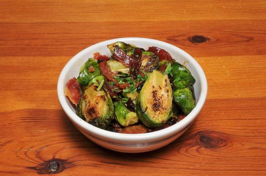 Delicious vegetable dish known as Sauteed Brussells Sprouts