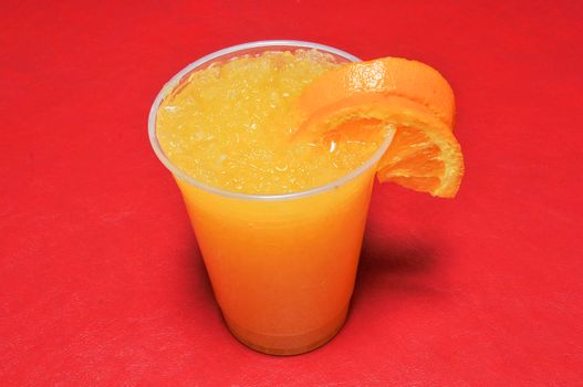 Delicious cold fruit beverage known as orangeade