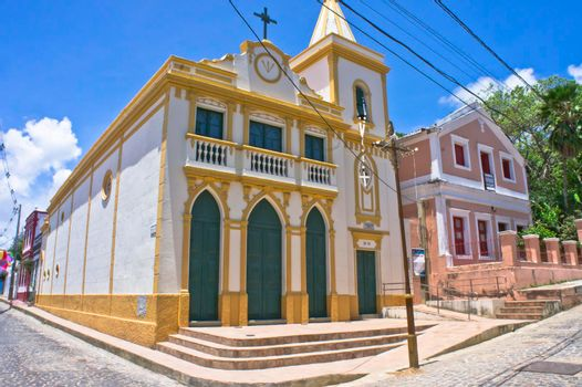 Olinda, Old city view with a Colonial church, Brazil, South America