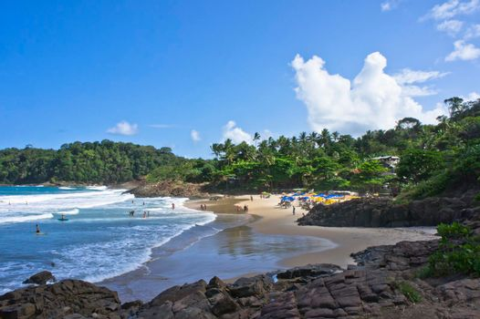 Itacare, Tropical beach view, Bahia, Brazil, South America