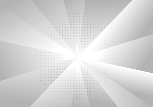 Abstract background white gradient radius geometric with halftone effect. Vector illustration