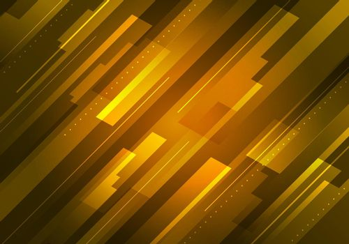 Abstract technology futuristic concept yellow glowing diagonal stripes layered on dark background