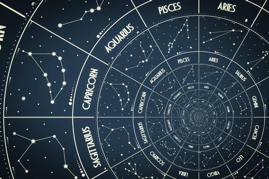Droste effect background. Abstract design for concepts related to astrology, fantasy, time and magic.