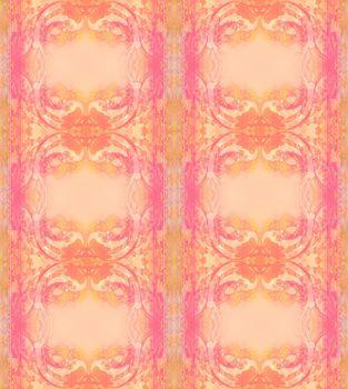 Japanese carp koi fish - vintage pattern