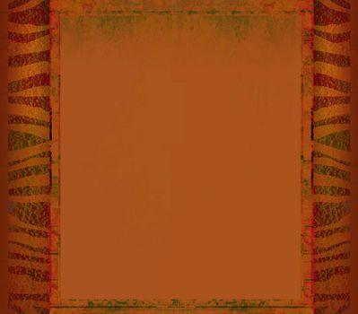 Grunge frame - african traditional patterns