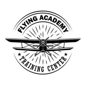Flying academy emblem design