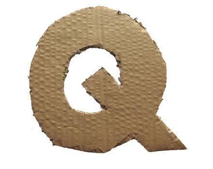 Cardboard texture Letter Q