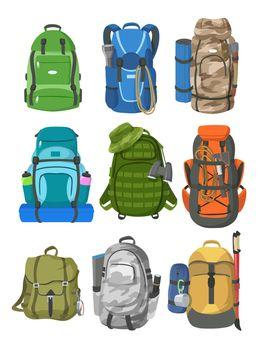 Camping backpacks set