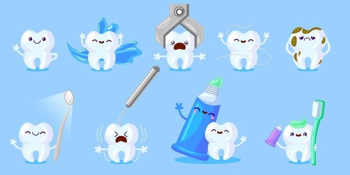Cartoon tooth care set