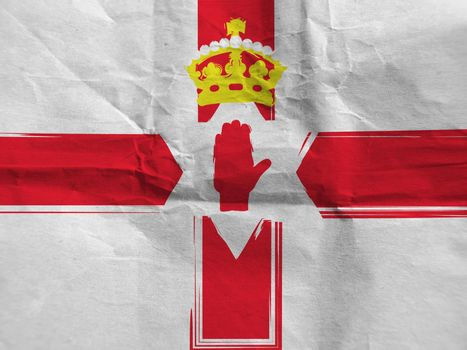Grunge NORTH IRELAND flag