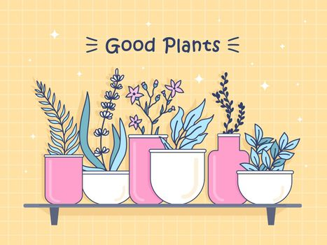 Cover design with good plants