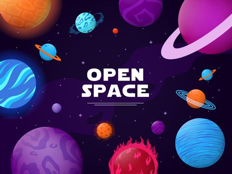 Cover design with open space theme