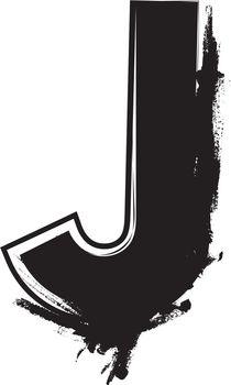 Grunge Font Letter J