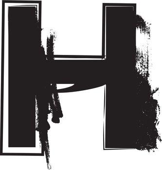 Grunge Font Letter H