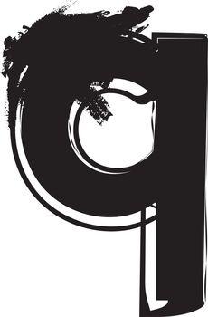 Grunge Font letter q
