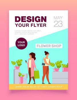 Customers in flower shop