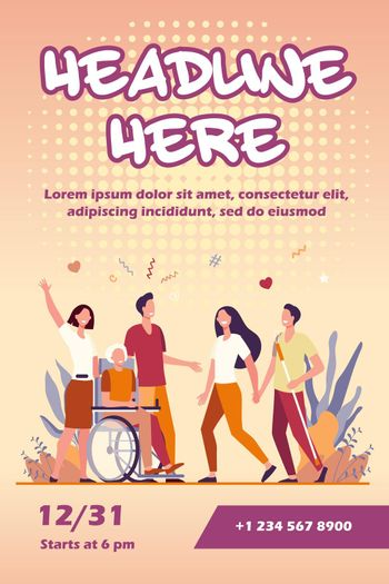 Disabled people help and diversity