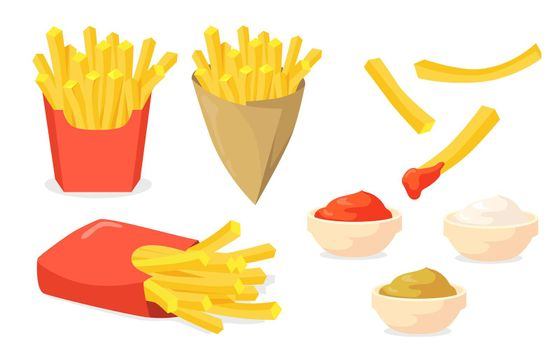French fries set