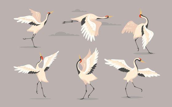 Japanese crane set