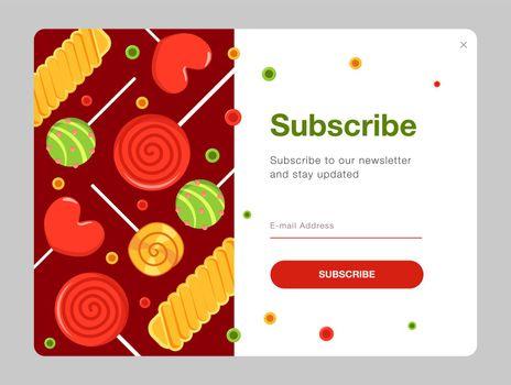 Newsletter design with candies