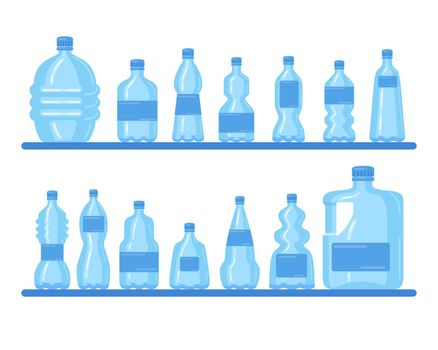 Plastic bottles collection