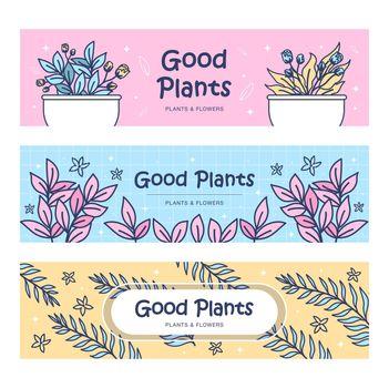 Plants banners set