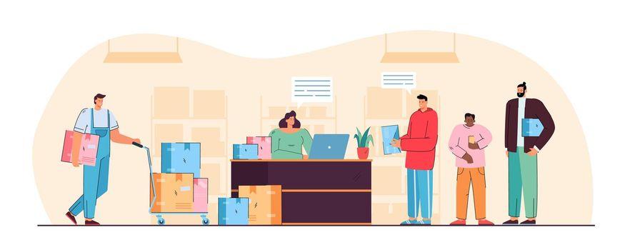 Post office vector illustration