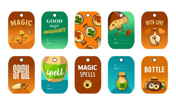 Stylish special tag designs for magic shop