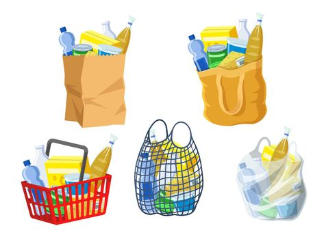 Supermarket bags collection