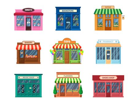 Various storefronts set