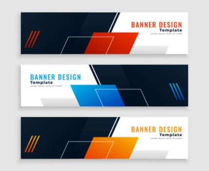 abstract web business banners or headers set