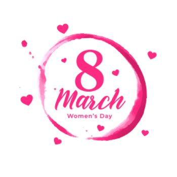 abstract womens day poster with hearts design