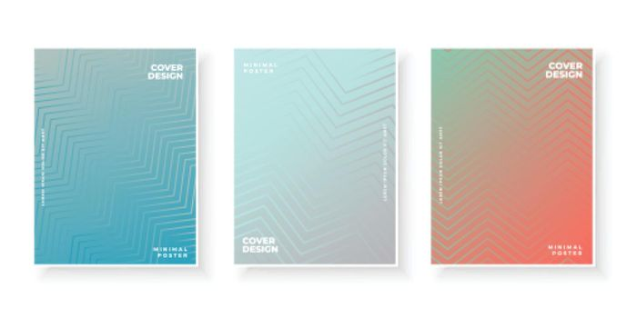 Colorful template with gradient set for presentation