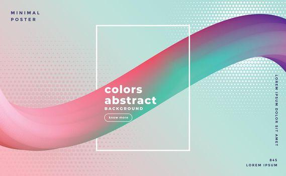 3d colorful fluid wave motion background design