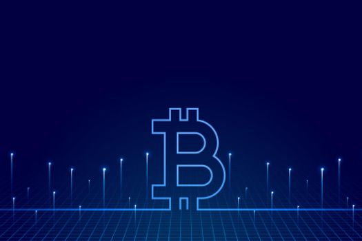 crypto currency bitcoin technology background of virtual money