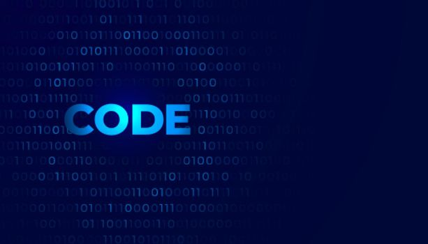 digital coding background with numbers zero and one