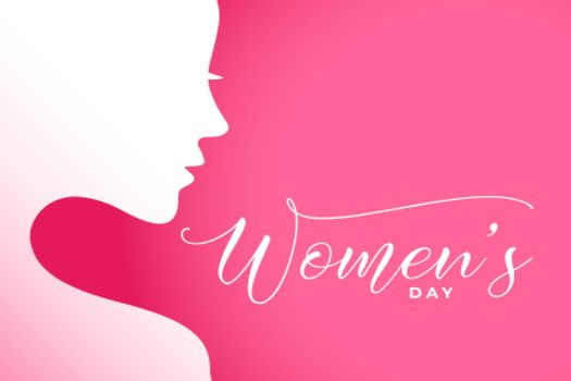 international women's day illustration with woman face