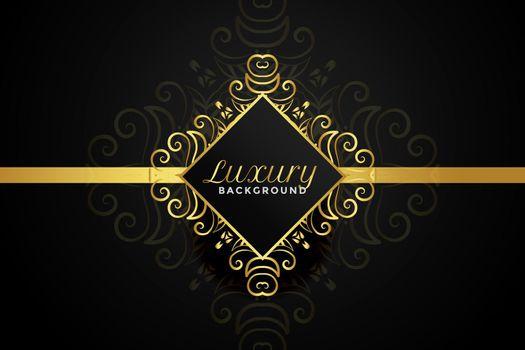 luxury golden ornamental background design