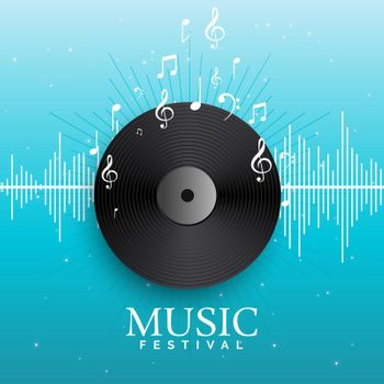 music record vinyl with audio beats