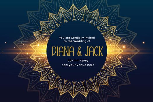 premium golden wedding invitation template design