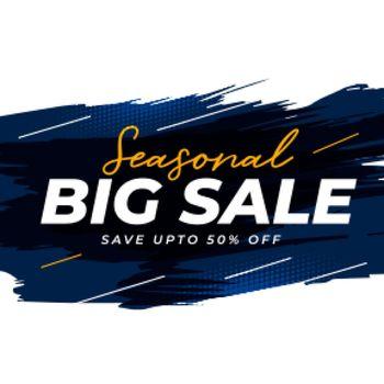 seasonal big sale banner template design